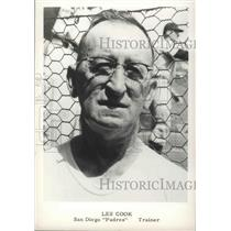 """1960 Press Photo Les Cook, San Diego """"Padres"""" baseball trainer - sps03462"""