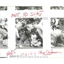 1992 Press Photo Seattle Seahawks football player, Cortez Kennedy - sps02884