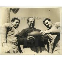 1936 Press Photo Lou Little, Joe Coviello, George Furey of Columbia University