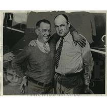"1929 Press Photo Byron K. Newcomb, R.L. Mitchell, Pilots of ""City of Cleveland"""
