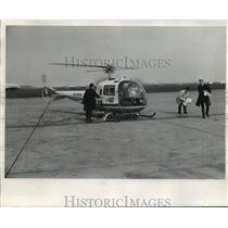 1987 Press Photo Air General Jet Helicopter, Logan International Airport, Boston