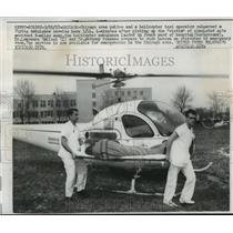 1957 Press Photo Dr. Lawrence Callosi, Chicago flying ambulance service