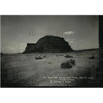 1928 Press Photo West End Steam-boat Rock, 872 Ft. high Grand Coulee, Washington