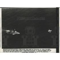 1956 Press Photo US Coast Guard Racing to Rescue Passengers Off Stratclipper