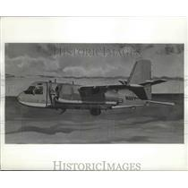 1959 Press Photo Artist concept of U.S. Navy Warfare Airplane Grumman S2F-3