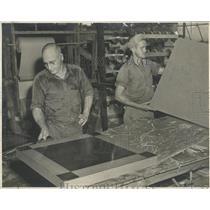 1946 Press Photo Palanetex fiber board card table top