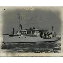 1936 Press Photo Boat Carrying Emperor Hail Selassie to British Ship Enterprise