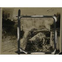 1925 Press Photo 23 perish in train wreck near Barcelona, Spain - neo07818