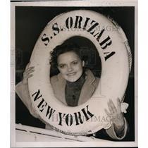 1939 Press Photo New York Jerry Wynn arrives aboard liner Orizaba NYC
