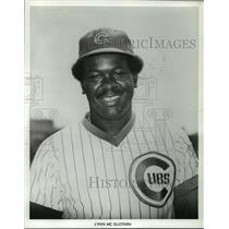 1981 Press Photo Chicago Cubs Baseball Player Lynn McGlothen - mja56457