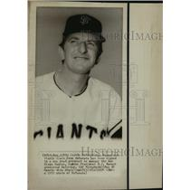 1974 Press Photo John McNamara, San Francisco Giants Goach, Padres Manager