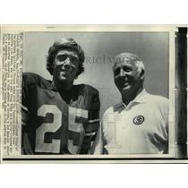 1972 Press Photo Coach Johnny McKay of California Trojans With J.K. McKay