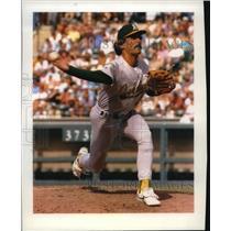 1992 Press Photo Oakland Athletics' Most Valuable Player Dennis Eckersley