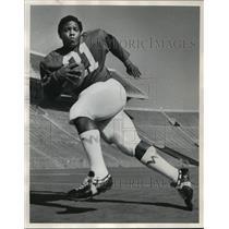 1971 Press Photo Rufus Ferguson, Running With A Football  - mja58982