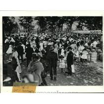 1908 Press Photo Third annual outing of Electric Railway and Light Company