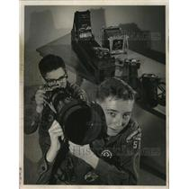 1964 Press Photo Boy Scouts worked toward their merit badges at Scout Clinic
