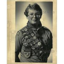 1984 Press Photo Howard April Honored Highest Award in Scouting for Eagle Scouts