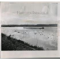 1965 Press Photo Dam in Mississippi River in Iowa - mja55070