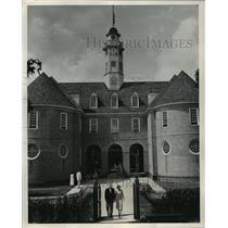 1953 Press Photo Colonial Capitol Building in Restored Williamsburg Virginia