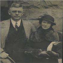 1935 Press Photo Pres Princeton Univ Dodds With Wife