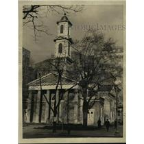 1933 Press Photo St. John's Episcopal Church Roosevelt Prays Before Inaugural
