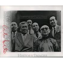 1965 Press Photo Tran Van Huong and Government Members, Saigon - mja56004
