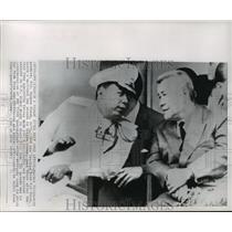 1964 Press Photo General Nguyen Khanh, Tran Van Huong at National Day Parade