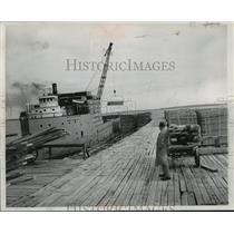 1951 Press Photo Last Load of Lumber to be Shipped from Nahma, Michigan