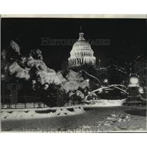 1934 Press Photo The Capitol Building After a Snow Storm - mja55767