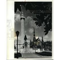 1991 Press Photo Washington Monument in Baltimore, Maryland - mja56417