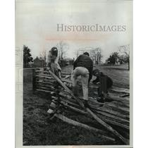 1985 Press Photo Fence Marks Where Virginia Soldiers Surrendered in 1865