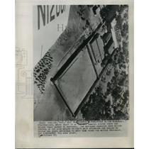 1955 Press Photo Wyoming Penitentiary Inmates Rioted Today Rawlins - mja56519