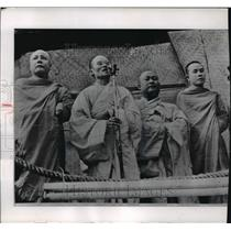 1965 Press Photo Thich Tam Chad and other Buddhists on hunger strike - mja60995
