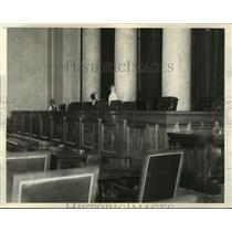 1935 Press Photo Interior View of Main Courtroom U.S. Supreme Court Building