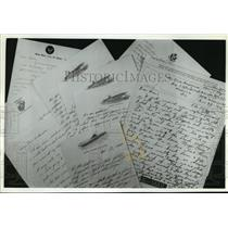 1992 Press Photo Collage of Letters from World War II Veterans - mja62228