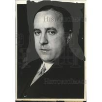 1933 Press Photo Wasserbaeck Chief of the Press Department of Austrian Legation