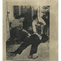 1950 Press Photo White House Guards Don Birdzell