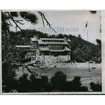 1953 Press Photo Lodge in Black Hills South Dakota where Eisenhower will stay