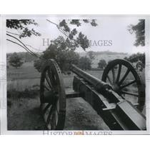 1957 Press Photo Cannon at Valley Forge Pennsylvania From Revolutionary War
