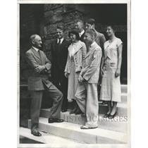 1932 Press Photo Northwestern Evanston Walter Dill