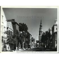 1989 Press Photo Historic houses on Church Street in Charleston South Carolina