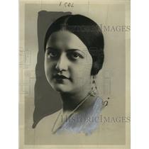 1930 Press Photo Estela Agramonte, University of Havana, Cuba Professor