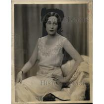 1930 Press Photo Olive Palmer Star of Palmolive Hour & Most Beloved Radio Singer