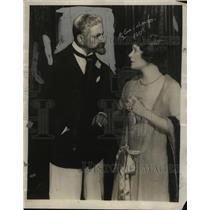 1924 Press Photo Actress Elsie Ferguson, Husband Frederick Worlock - neo03568