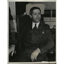 1933 Press Photo Heinz Spanknoebel Leader of Nazi Movement in United States