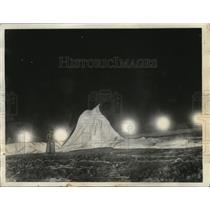1935 Press Photo Deflated Strato Balloon in Rapid City, S.D. After It Burst