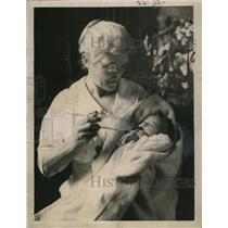 1921 Press Photo Mrs. John Graham with Baby Left for Dr. Percy Stickney Grant
