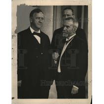 1919 Press Photo Albert Daniels & French Ambassador Jean Jules Jusserand