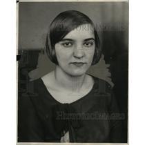 1928 Press Photo Milka Sablich, Leader Colorado Miners Demonstration - neo07963