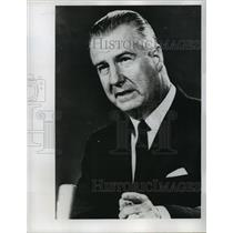 1968 Press Photo Governor Spiro T. Agnew of Maryland - noa12780